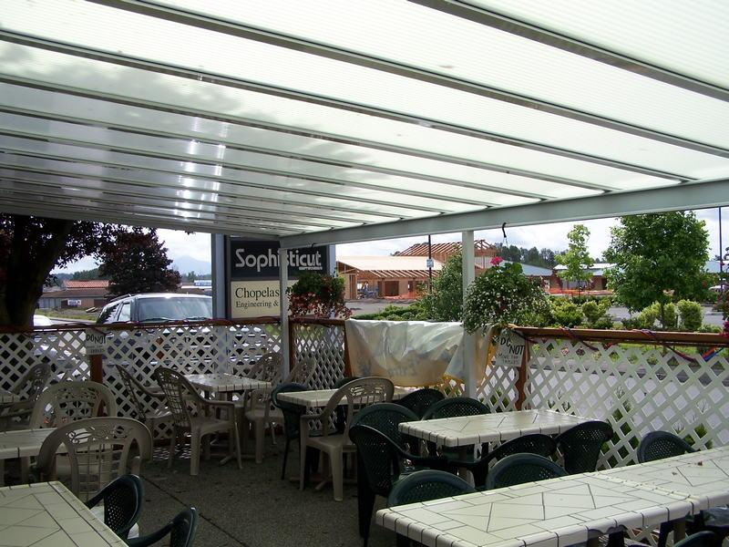 Http://seattlepatiocovers.com/images/commercial Sunrooms Patio Covers  Atriums/0321 Acrylic Patio Covers