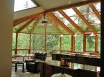 Wood and Glass Straight Eave Sunroom